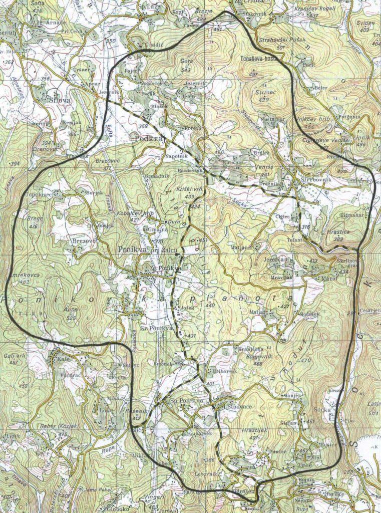 Zemljevid Ponikva